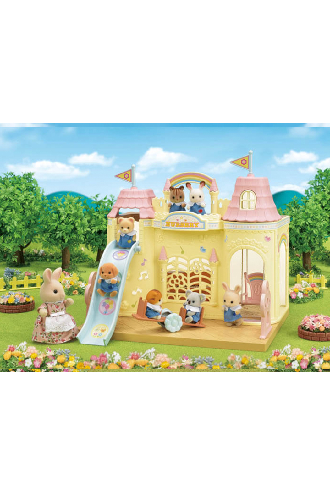 Calico Critters Baby Castle Nursery - Back Cropped Image