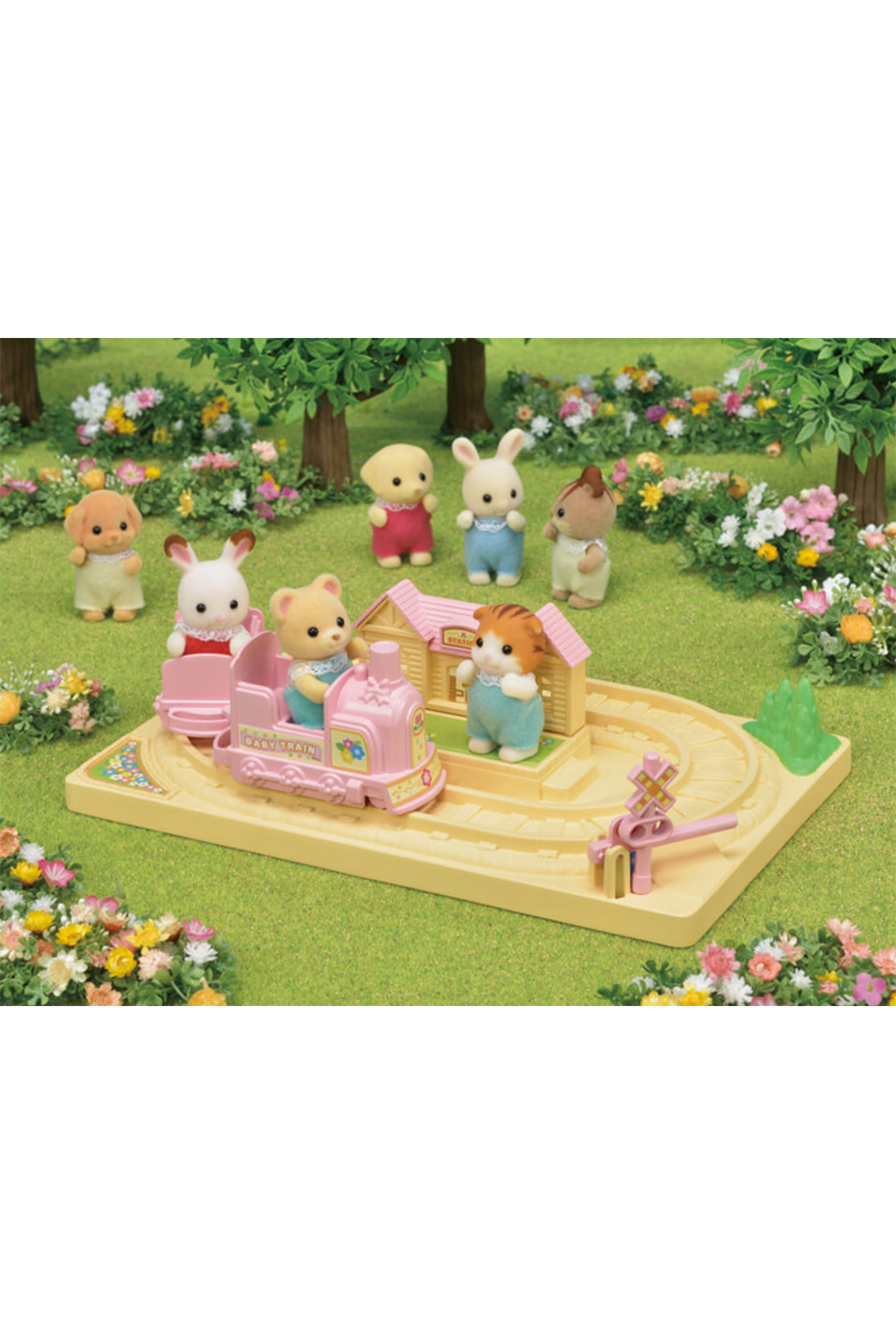 Calico Critters Baby Choo Choo Train - Front Full Image