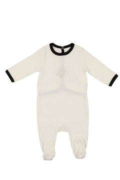 Shoptiques Product: BABY DARLING DIAMOND FOOTIE WHITE