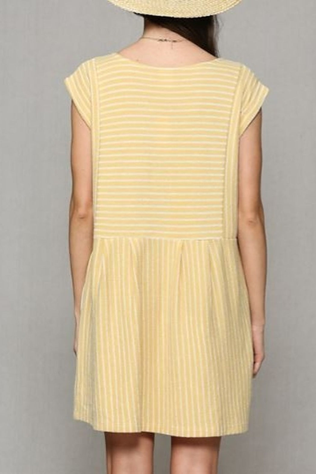 By Together  Baby doll Dress with pockets - Back Cropped Image
