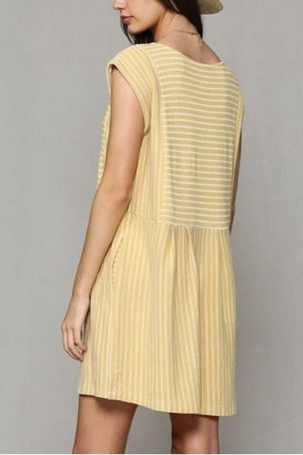 By Together  Baby doll Dress with pockets - Side Cropped Image