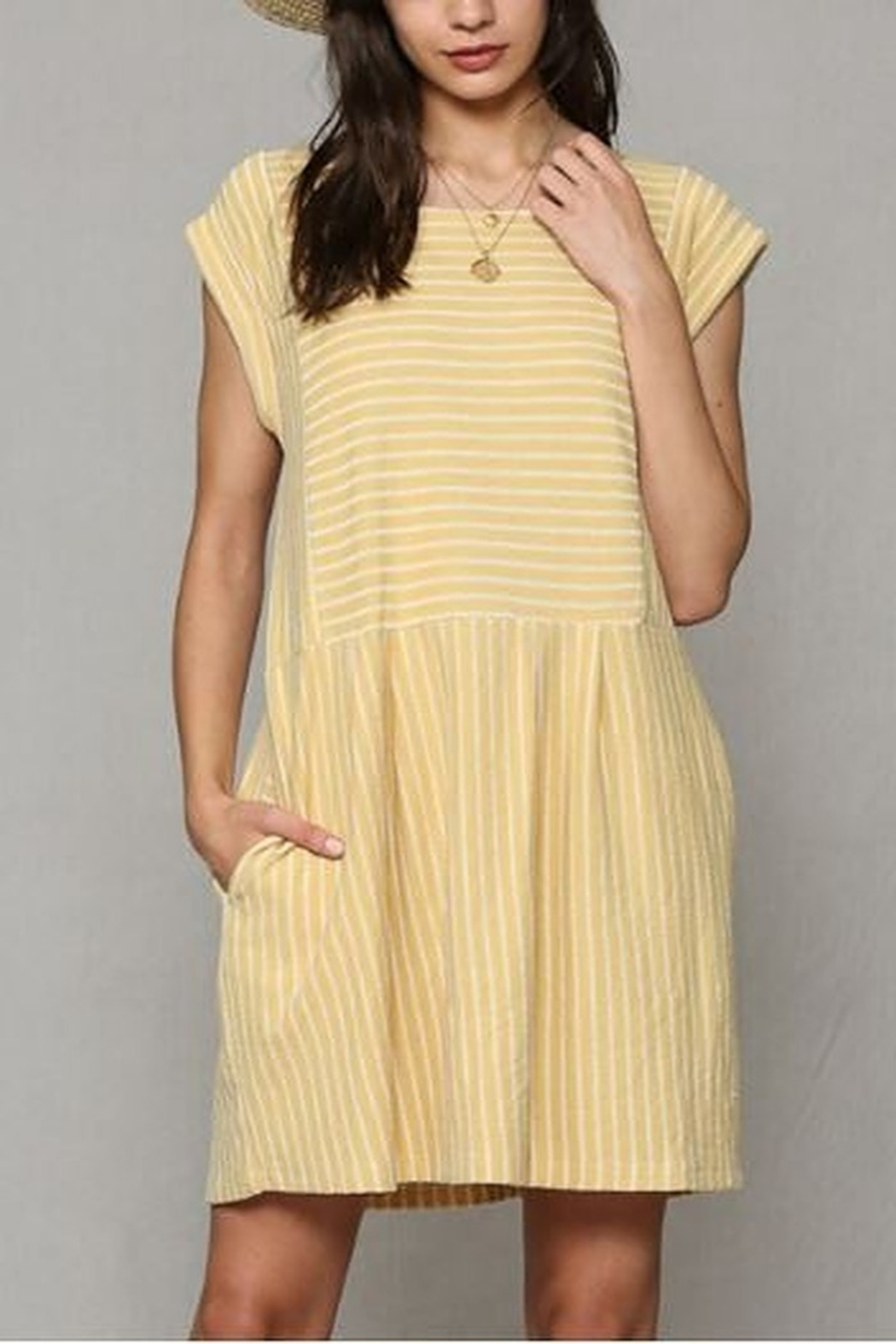 By Together  Baby doll Dress with pockets - Front Full Image