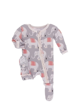 Shoptiques Product: Baby Elephant Ruffle-Footie