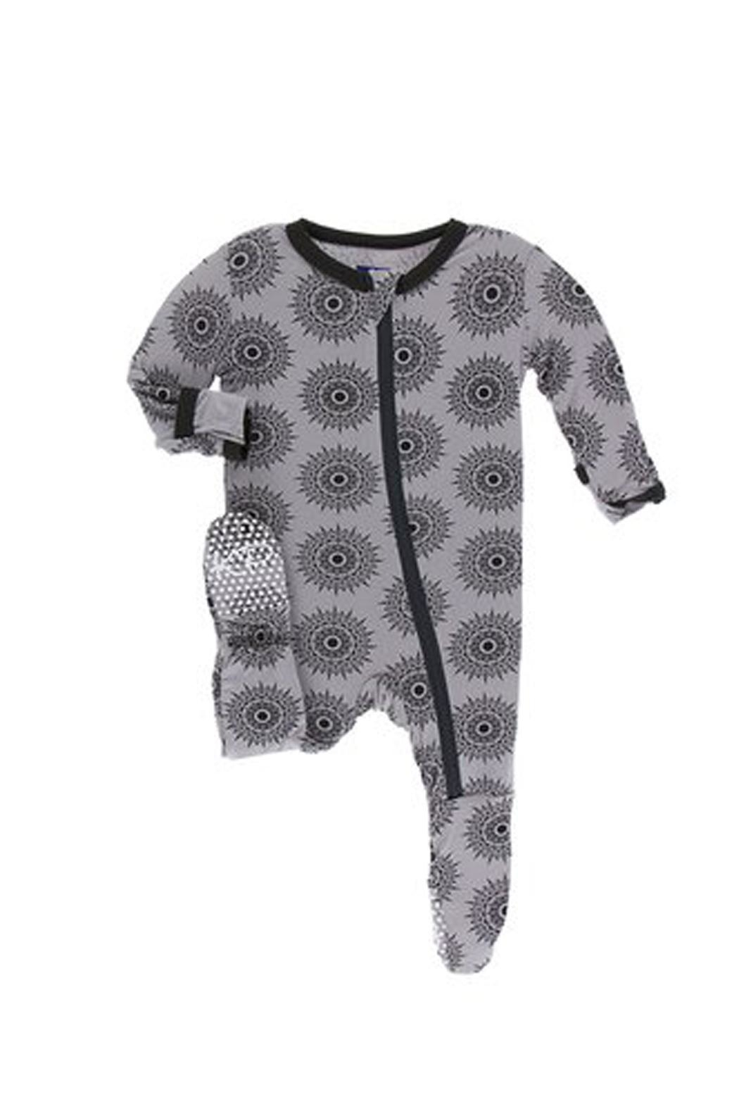 Kickee Pants Baby Feather-Mandala Footie - Front Cropped Image
