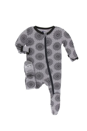Kickee Pants Baby Feather-Mandala Footie - Product Mini Image
