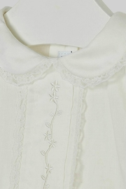 Mayoral Baby-Girl Embroidered-Long-Sleeve-Off-White Blouse - Side cropped
