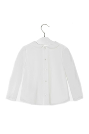 Mayoral Baby-Girl Embroidered-Long-Sleeve-Off-White Blouse - Front full body