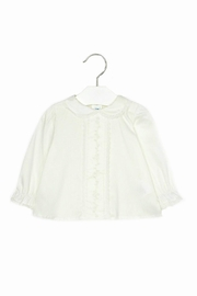 Mayoral Baby-Girl Embroidered-Long-Sleeve-Off-White Blouse - Front cropped