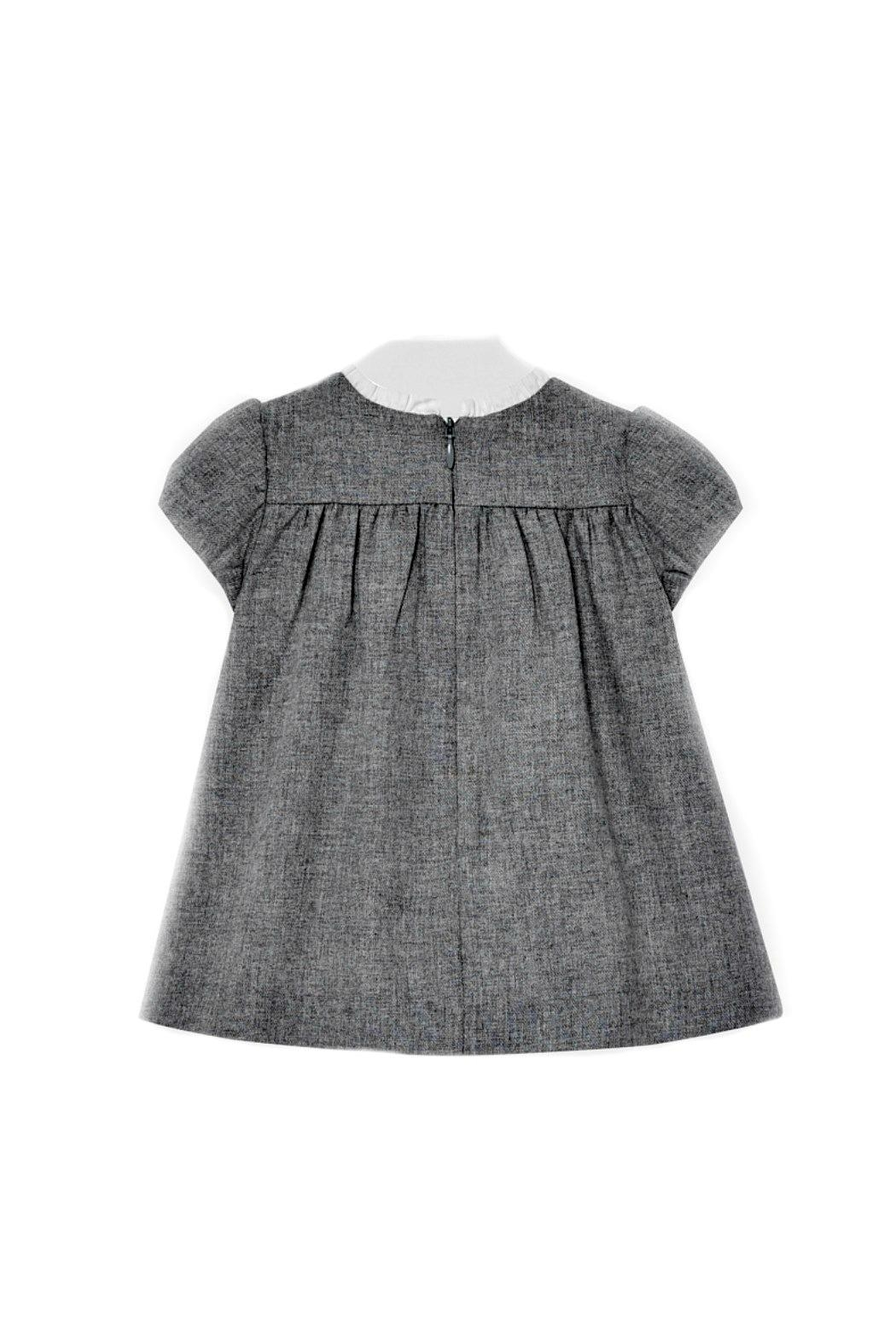 Mayoral Baby-Girl Grey-Flannel Dress - Front Full Image