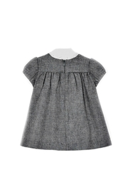 Mayoral Baby-Girl Grey-Flannel Dress - Front full body