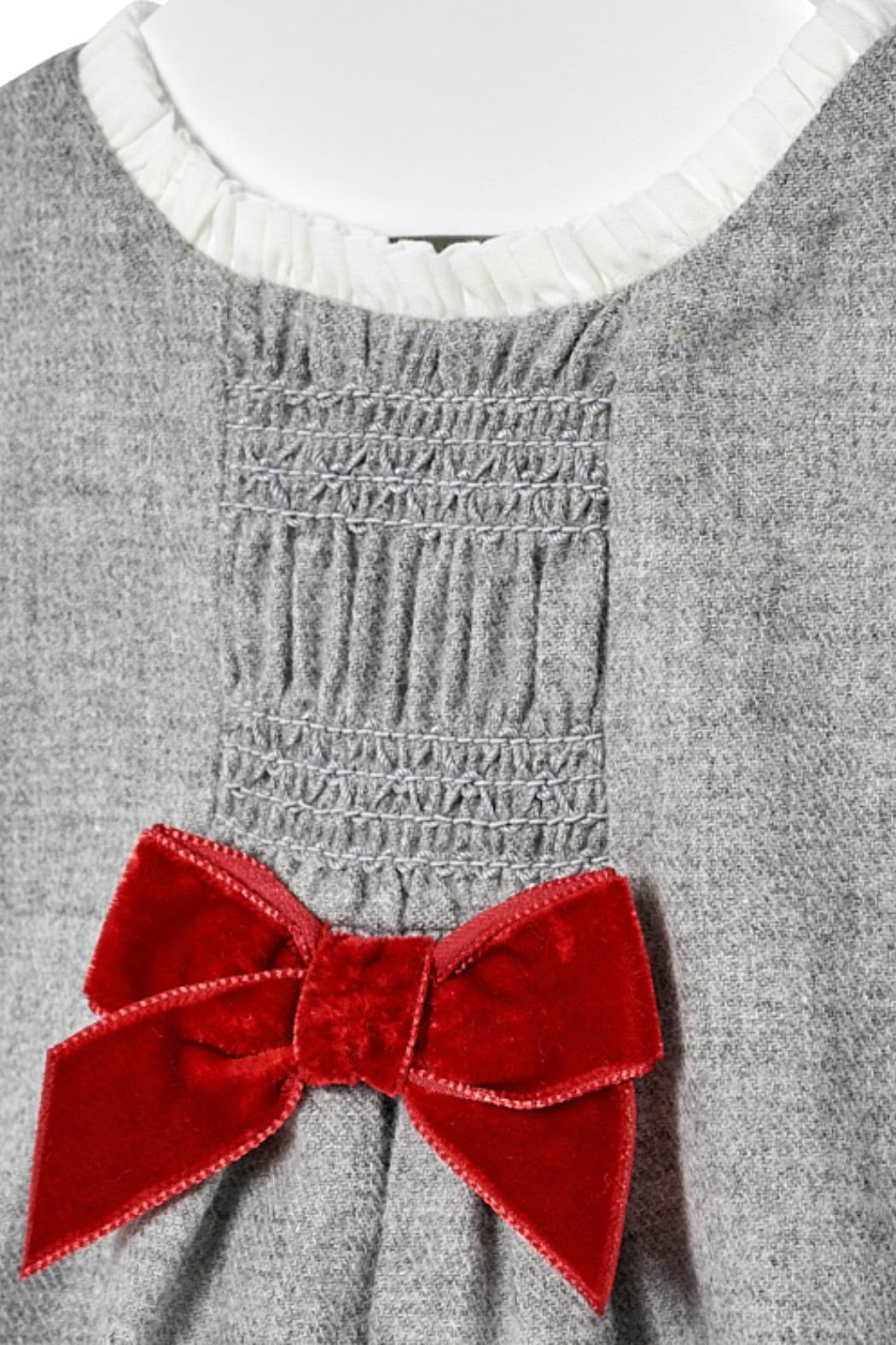 Mayoral Baby-Girl Grey-Flannel Dress - Side Cropped Image