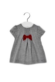 Mayoral Baby-Girl Grey-Flannel Dress - Front cropped