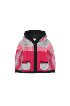 Shoptiques Product: Baby Girl Jacket in Multicolored Jacquard