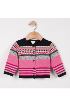 Catimini Baby Girl Jacquard Knit Cardigan - Product List Image