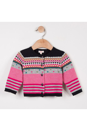 Catimini Baby Girl Jacquard Knit Cardigan - Front cropped