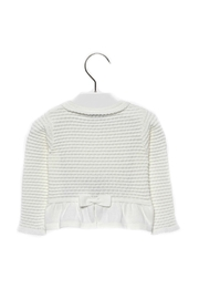 Mayoral Baby-Girl Knitted Off-White-Cardigan - Side cropped