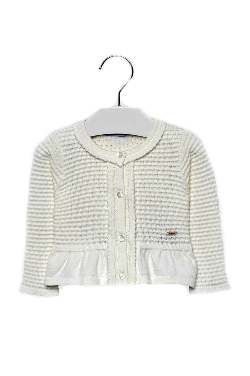Mayoral Baby-Girl Knitted Off-White-Cardigan - Main Image