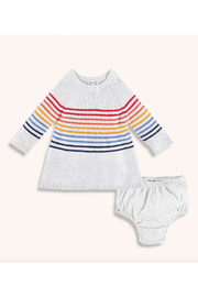 Splendid Baby Girl Rainbow Stripe Sweater Dress Set - Front cropped