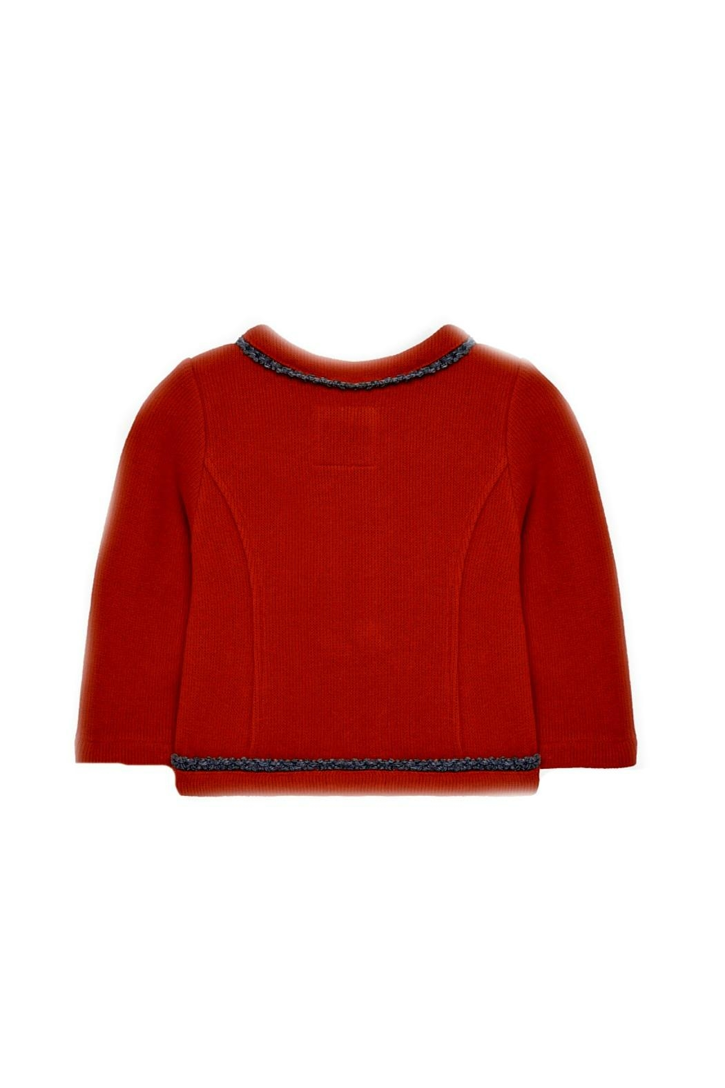 Mayoral Baby-Girl-Red-Zip-Up-Cardigan-Jacket - Front Full Image