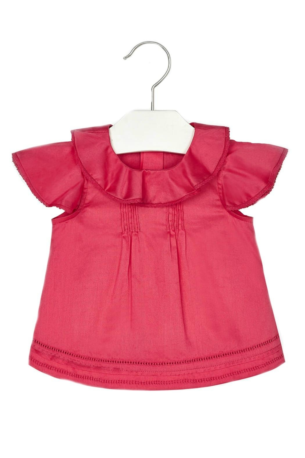 Mayoral Baby-Girl Ruffle-And-Embroidered Blouse - Main Image