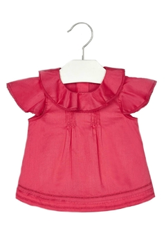 Shoptiques Product: Baby-Girl Ruffle-And-Embroidered Blouse