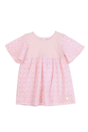 Carrement Beau  BABY GIRL SS FRENCH EMBROIDERY & JERSEY DRESS - Product Mini Image
