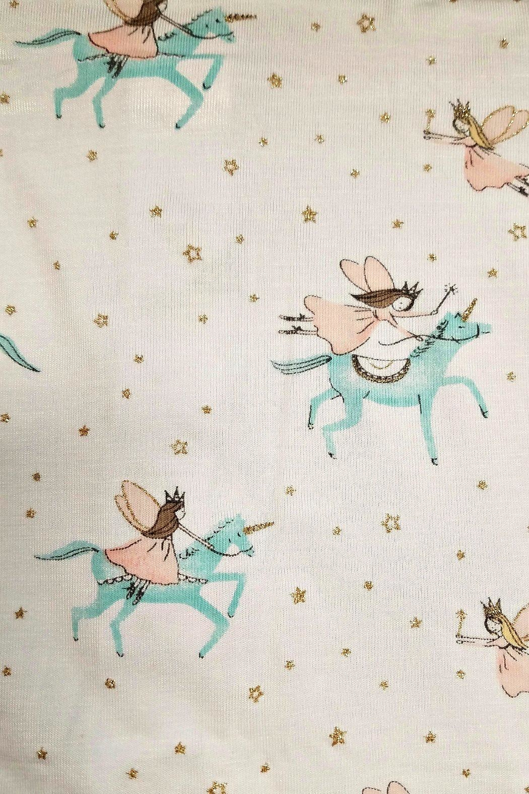 Mud Pie Baby-Girl-Unicorn-Convertible-Gown - Front Full Image