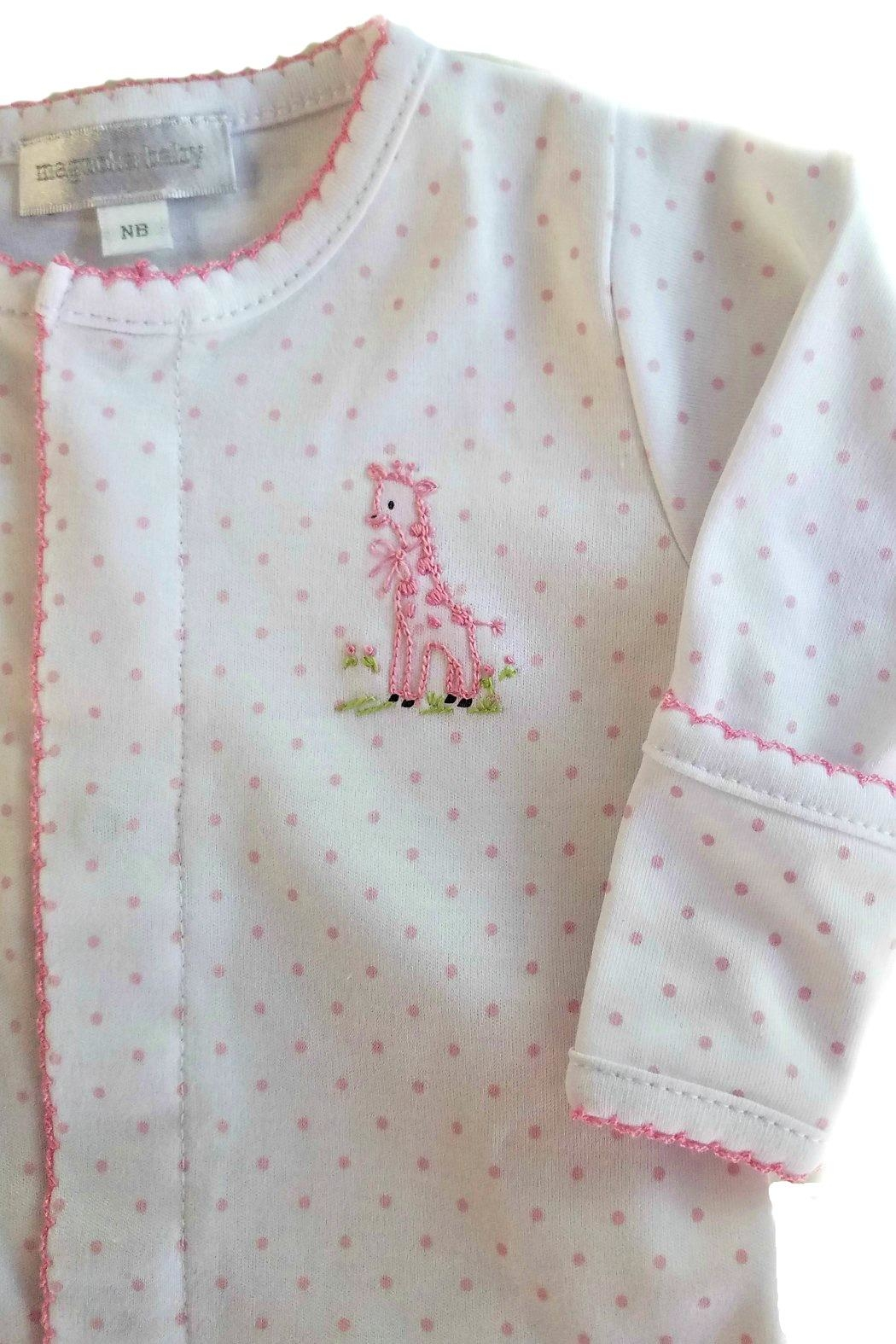 Magnolia Baby Baby-Girl Vintage-Giraffe Convertible-Gown - Front Full Image