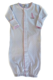 Magnolia Baby Baby-Girl Vintage-Giraffe Convertible-Gown - Front cropped