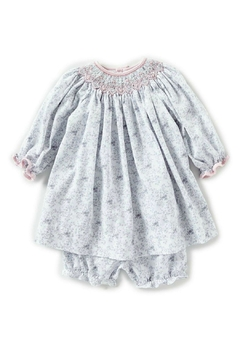 Shoptiques Product: Baby-Girl-Vintage-Rose-Dress-In-Grey-With-Bloomers