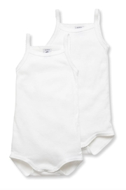 Petit Bateau Baby Girls' Bodysuits with Straps - 2-Piece Set - Product Mini Image