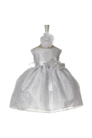 Cinderella Couture Baby Girls White Lace Short Dress - Product Mini Image