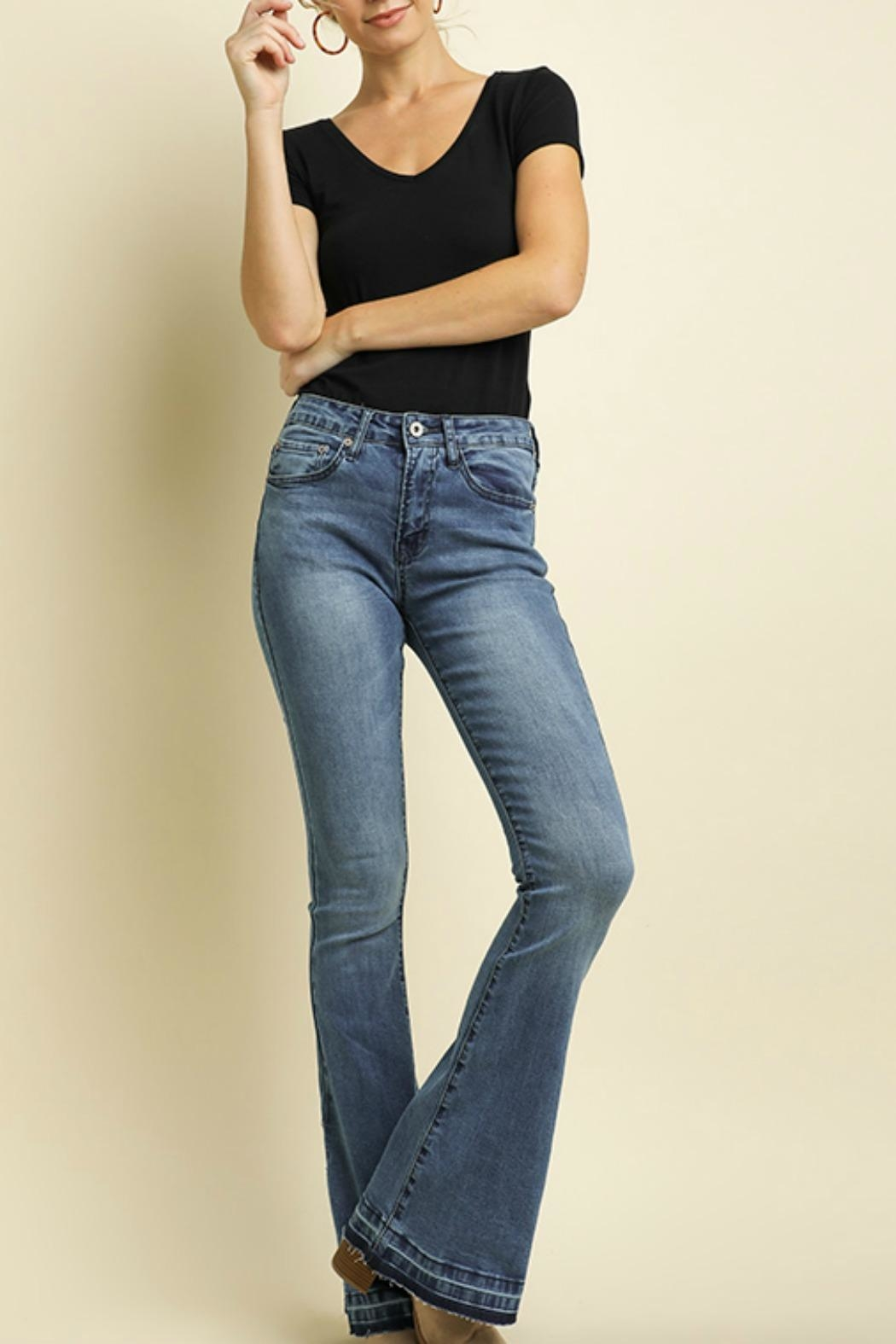 Umgee USA High Waisted Jeans - Front Cropped Image