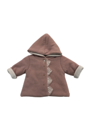 LA MASCOT  BABY HOODED JACKET WITH LACE EDGE BY ITALY - Product Mini Image