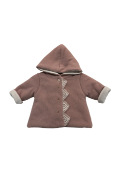 Shoptiques Product: BABY HOODED JACKET WITH LACE EDGE BY LA MASCOT ITALY