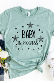 Bella Canvas Baby In Progress T-Shirt - Front cropped