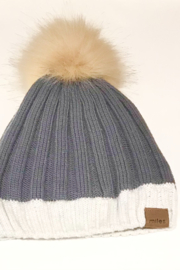 sample sale items Baby Knit Beanie with Pom - Product Mini Image