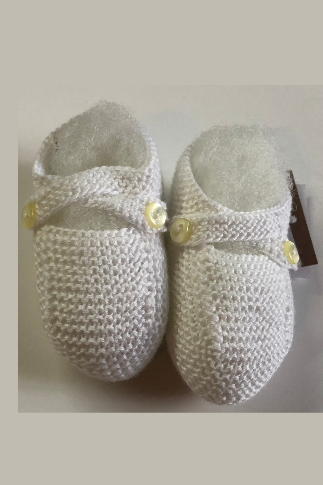 CARMINA BABY KNIT BOOTIES - Front Cropped Image