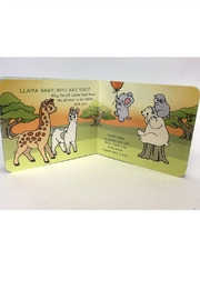 Gift Craft Baby Llama Book - Back cropped