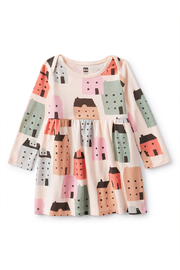 Tea Collection  Baby Long Sleeve Skirted Dress - Stockholm Streets - Product Mini Image