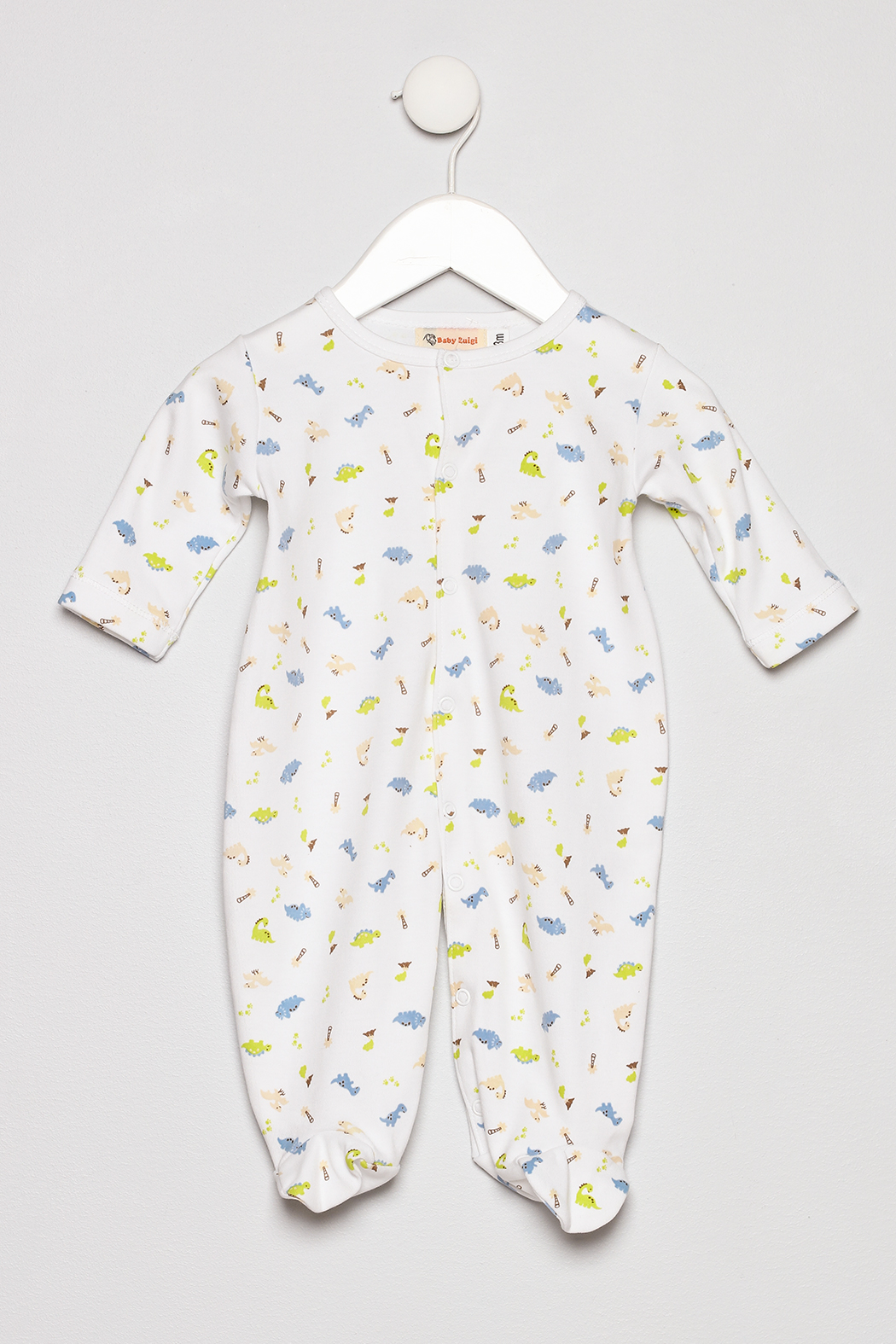 Baby Luigi Boys Cotton Romper - Main Image