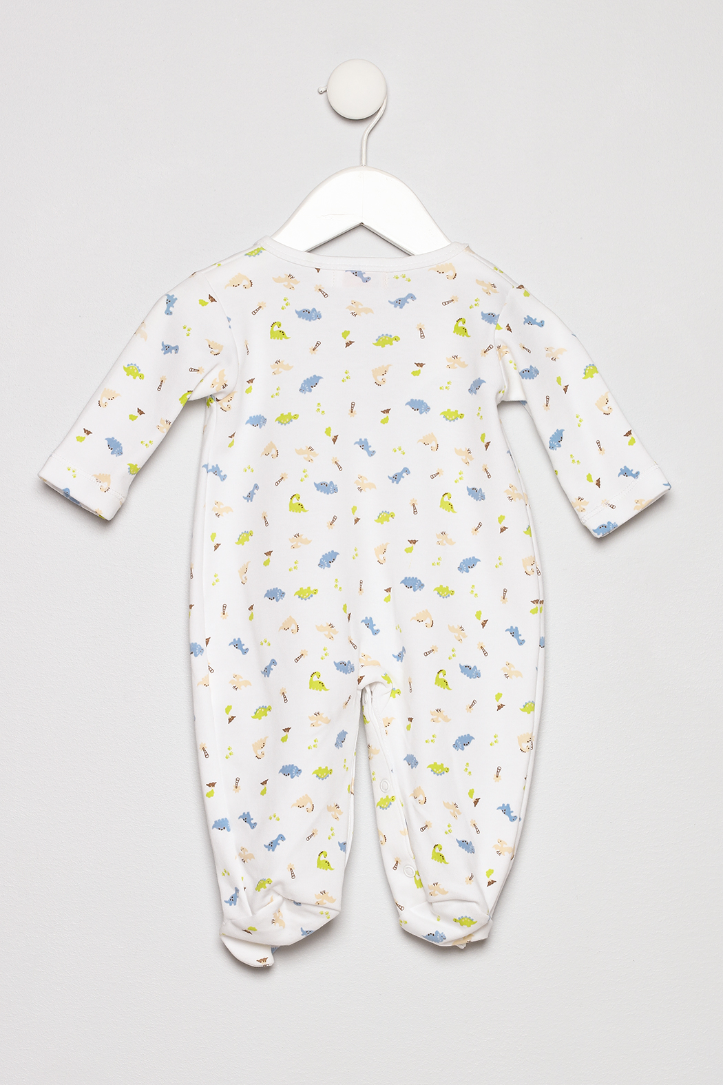 Baby Luigi Boys Cotton Romper - Back Cropped Image
