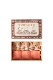 Maileg Baby Mice Triplets In Matchbox - Product Mini Image