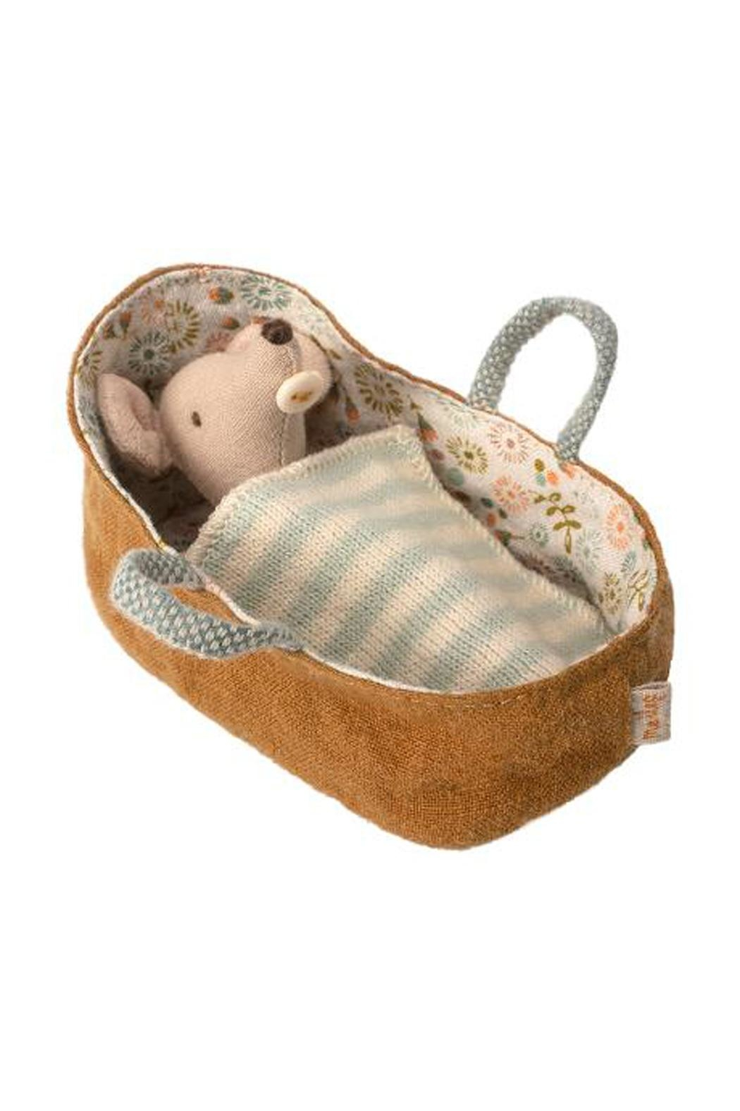 Maileg Baby-Mouse In Carrycot - Front Cropped Image