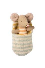 Maileg Baby-Mouse In Sleeping-Bag - Front cropped