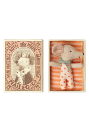 Maileg Baby Mouse Sleepy-Wakey in Box Girl - Product Mini Image