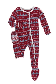 Kickee Pants Baby Nordic Footie - Front cropped