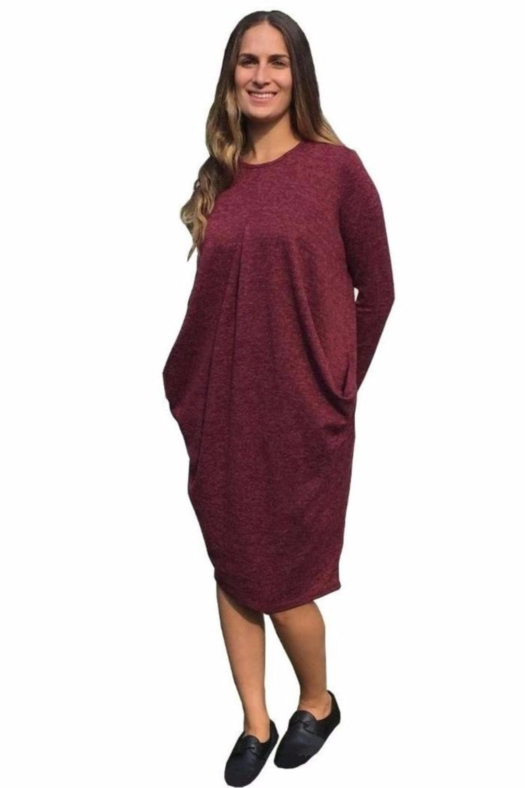 Baby-O Pleated Slouch Dress - Main Image