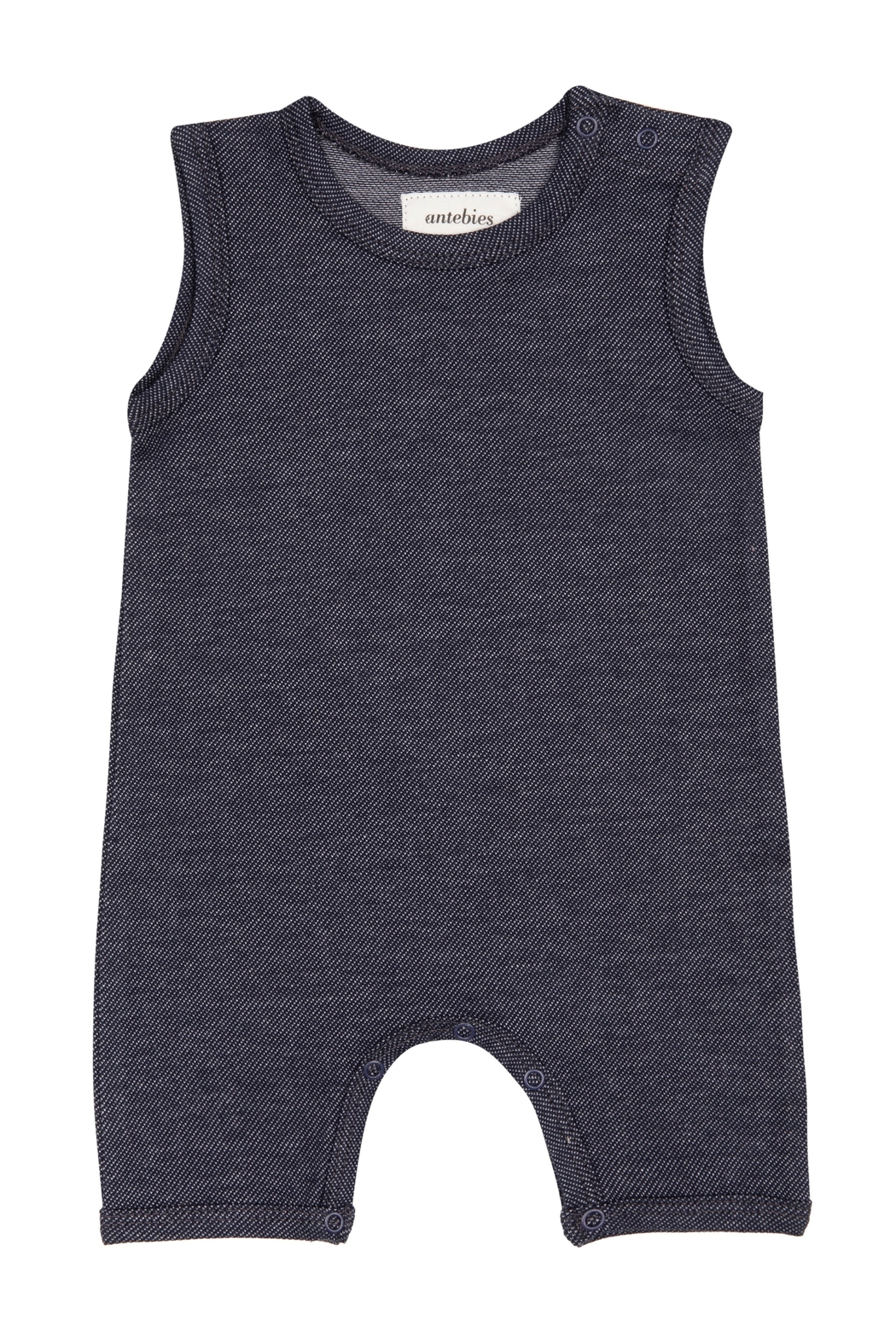 ANTEBIES Baby Organic Cotton Denim Overalls - Front Cropped Image