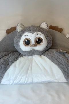 Bearington Baby Collection Baby owl belly blanket, cozy soft plush - Alternate List Image